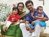 Anjana Dhanvanthan with her family for WOI