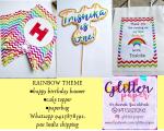 Rainbow themed Decor