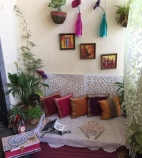 Image of a Cozy corner made by Sharaddha in a space constrained balcony