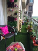 Space constrained balcony styled by Shradha