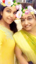 Sruthi with her Mom