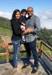 Sanjana with her family