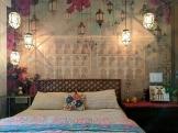 Garden style vintage bedroom